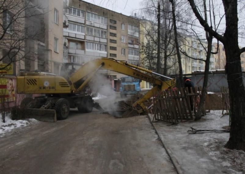 Прорыв теплотрассы в Ленинском районе
