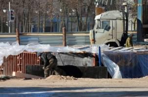 Памятник воинам-освободителям в Смоленске вышел из нулевого цикла