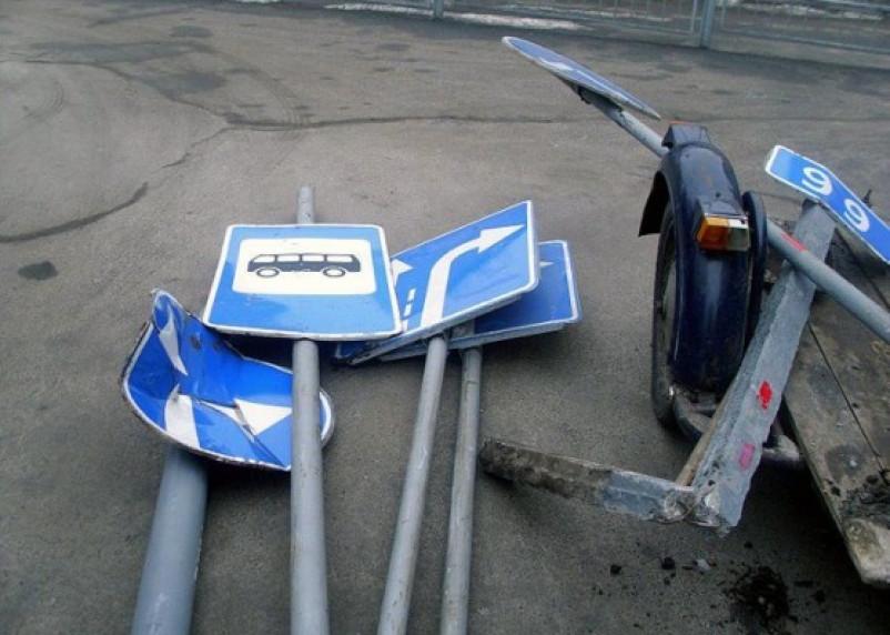 В Рославле похищены более 30 дорожных знаков