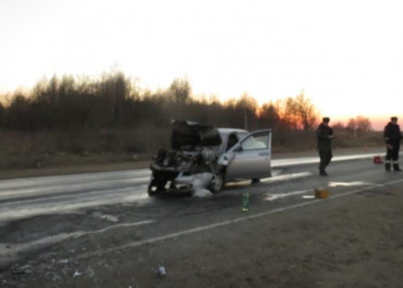 На смоленской окружной дороге произошла авария