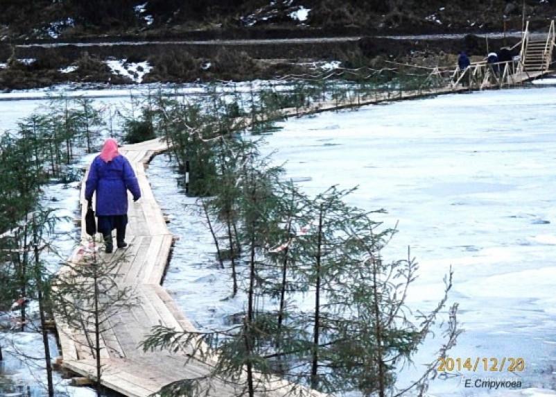 В Велиже запрещена эксплуатация ледовой переправы