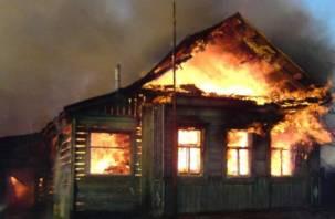 В Сафонове горел жилой дом