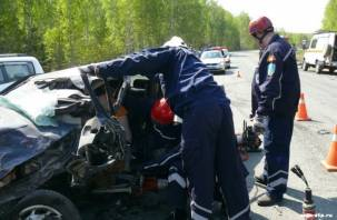 Спасатели в Ельне извлекли людей из искореженных авто