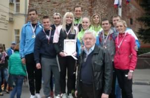 Смоленские полицейские стали лучшими в легкоатлетической эстафете