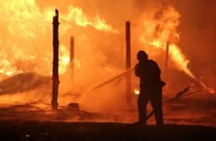 В Смоленской области сгорели три дома, одна женщина погибла