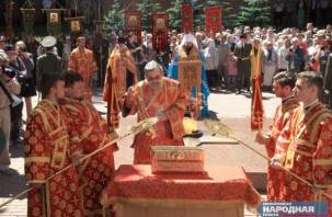 В Смоленск доставлены мощи святого Георгия Победоносца. Фоторепортаж