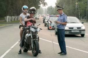 Смоленские мотоциклисты злостно нарушают ПДД