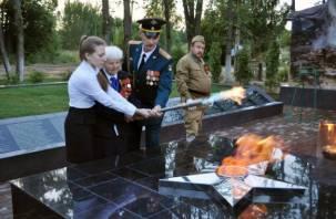 В деревне Соловьево зажжен Вечный огонь