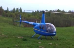 На Смоленщине природные пожары обнаруживает вертолет «Робинсон»