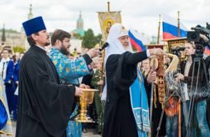 Патриарх Кирилл освятил памятник крестителю Руси князю Владимиру