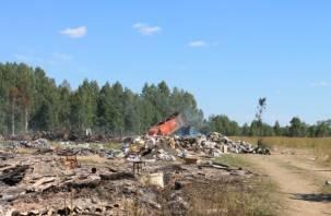 В Хиславичском районе мусор вывозят в чистое поле