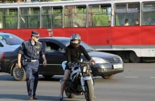 Смоленская Госавтоинспекция задержала девять пьяных мотоциклистов