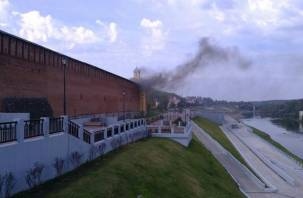 На Крепостной стене в Смоленске произошло возгорание