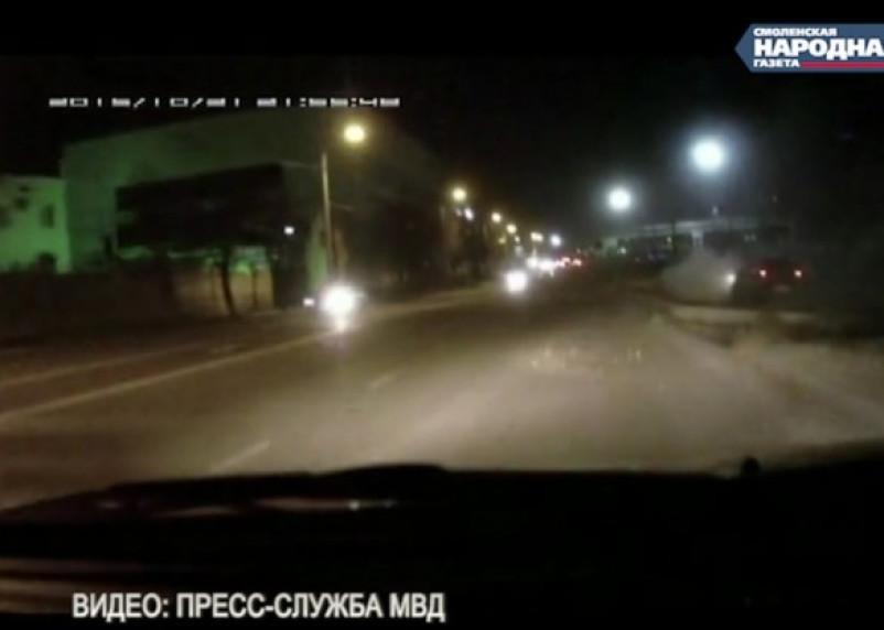 Видео погони со стрельбой в Смоленске появилось в Сети