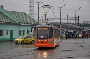 В Смоленске приостановлено движение трамваев на железнодорожный вокзал