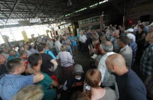 В Смоленске началась забастовка владельцев маршрутных такси