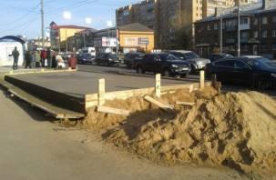 Чиновники-эстеты не дали вовремя построить остановочный комплекс в Смоленске