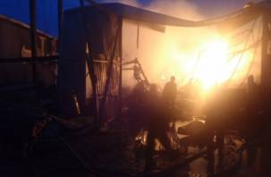 В деревне Анохово Смоленской области горела пилорама