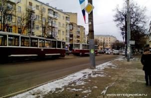 ДТП в центре Смоленска парализовало движение трамваев