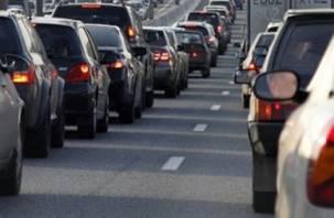 Авария на Витебском шоссе собрала огромную пробку