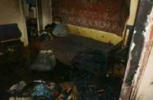 В Дорогобужском районе сгорела квартира, один человек пострадал