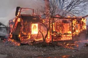 На месте пожара, унесшего три жизни, работает полиция