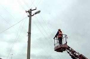 Из-за штормового ветра районы Смоленской области остались без света