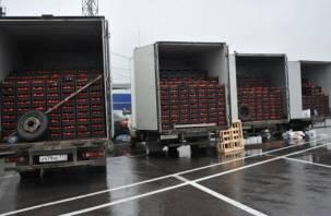 В Краснинском районе задержали санкционные помидоры