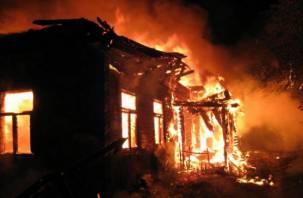 В Краснинском районе сгорел жилой дом