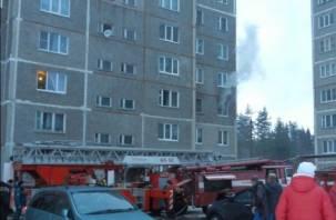 В результате пожара в ярцевской многоэтажке пострадал человек (фото)