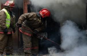 В Смоленске при пожаре в новогоднюю ночь пострадал человек