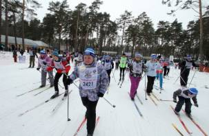 «Лыжня России» в Смоленске состоялась вопреки отсутствию снегопада