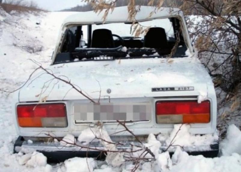 В Руднянском районе авто опрокинулось в кювет