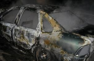 В Смоленском районе сгорел автомобиль