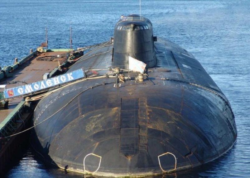 На атомной подлодке «Смоленск» прошли учения