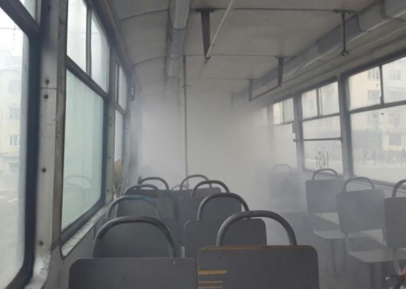 В смоленском трамвае произошло возгорание