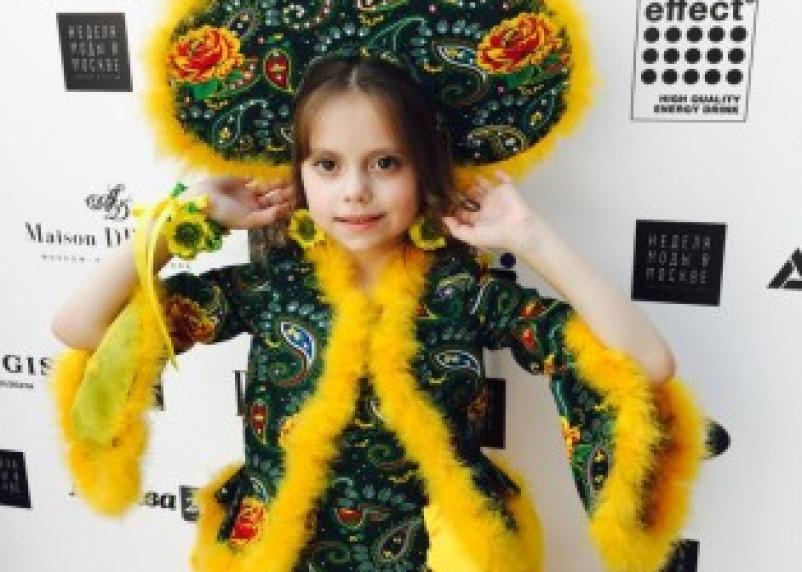 На Неделе моды в Москве дефилировала шестилетняя модель из Смоленска