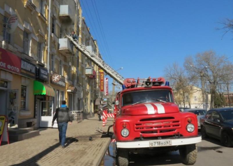 В центре Смоленска чуть не сгорела квартира