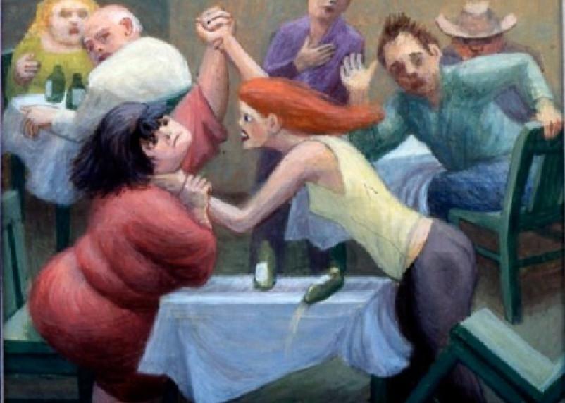 В Ярцеве три девушки устроили драку в кафе