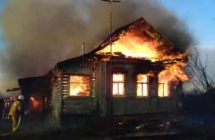 В Рославле в огне погибли два человека
