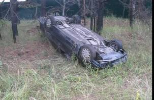 Водитель опрокинувшегося под Смоленском  «Мерседеса» отделался ссадинами