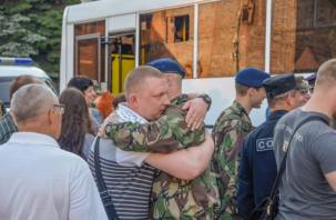 Смоленские полицейские уехали в командировку на Кавказ