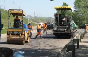 В Смоленске идет ремонт на крупной автомобильной развязке. ФОТО