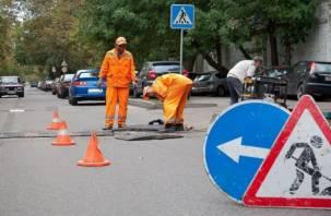 В Смоленске ремонтируют проблемные дороги