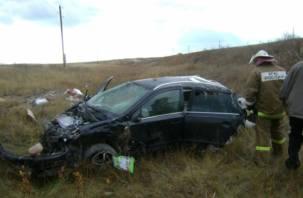 В Десногорске опрокинулся автомобиль