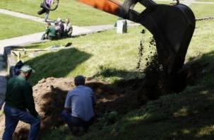 Чиновники засыпали песком историческое подземелье в центре Смоленска