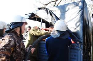 В Смоленской области студенты-спасатели учатся тушить лесные пожары