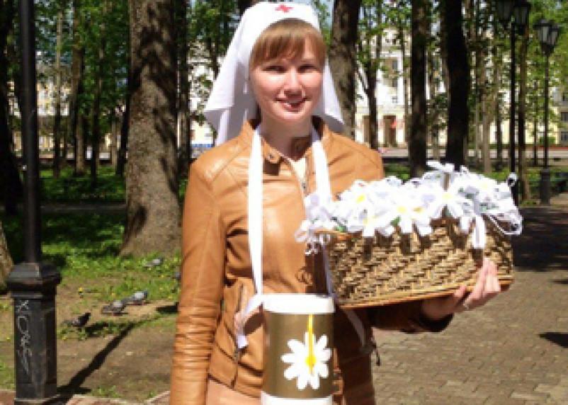 В Смоленске проходит ежегодная благотворительная акция «Белый цветок»