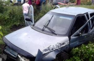 В Гагаринском районе водитель ВАЗа оказался в кювете