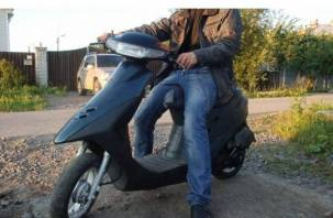 В Смоленской области поймали пьяного на скутере